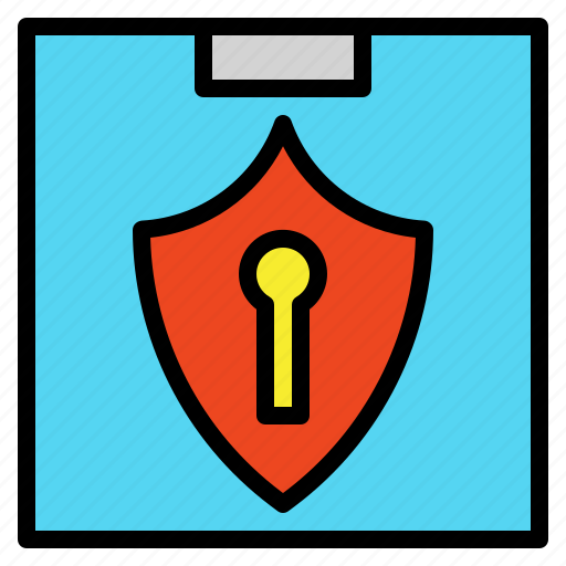 certificate, guard, keyhole, lock, protection, safe, security icon