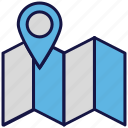 location, logistics delivery, map, marker, pin icon