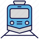 logistics delivery, railway, shipping, train, transport icon