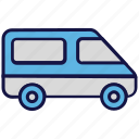 logistics delivery, shipping, transport, van icon