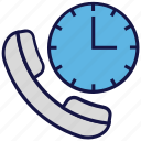 call, logistics delivery, order, telephone, time icon