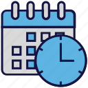 appointment, calendar, clock, logistics delivery, schedule, time icon
