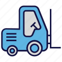 forklift, logistics delivery, shipping, transport
