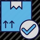 accept, box, carton, logistics delivery, parcel icon