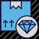 box, carton, diamond, logistics delivery, parcel icon