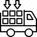cargo truck, delivery van, pickup truck, shipping van, utility van icon