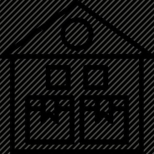 industrial measuring, storage organization, storage space utilization, warehouse storage capacity, warehousing storage efficiency icon