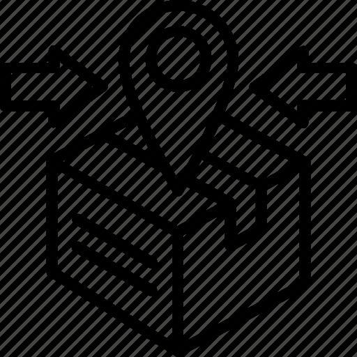 branding, categorizing, inbound, logistic, sorting icon
