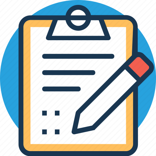 agenda list checklist clipboard notes icon