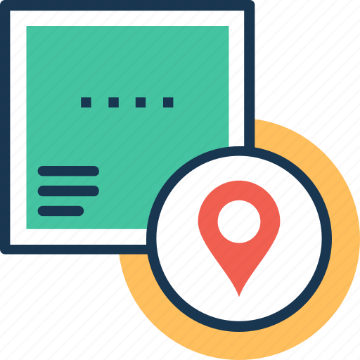 cargo services, delivery location, logistic distribution, logistics services, package location icon