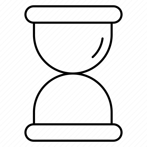 hourglass, sand, stopwatch, timer icon