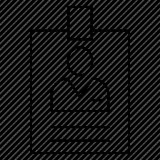 badge, card, id, profile icon