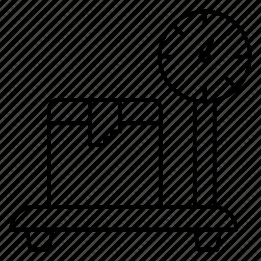 box, carton, meter, parcel, weight icon