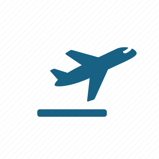 airplane, plane, runway, taking off icon