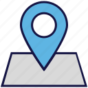 location, logistics delivery, map, pin icon