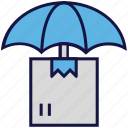 box, carton, insurance, logistics delivery, umbrella