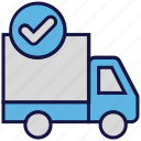 accept, logistics delivery, shipping, transport, truck icon