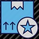 box, carton, favorite, logistics delivery, parcel, star icon