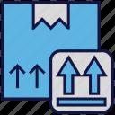 box, carton, logistics delivery, parcel, sending icon