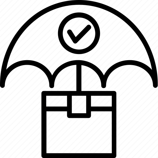 delivery insurance, delivery protection, handle with care, keep dry, shipping protection icon