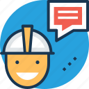 conveyer, courier, dispatcher, messenger, worker icon
