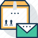 mail service, postal service, parcel post, airmail, post package icon