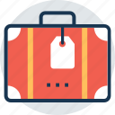 baggage, case label, luggage, suitcase, traveling bag icon