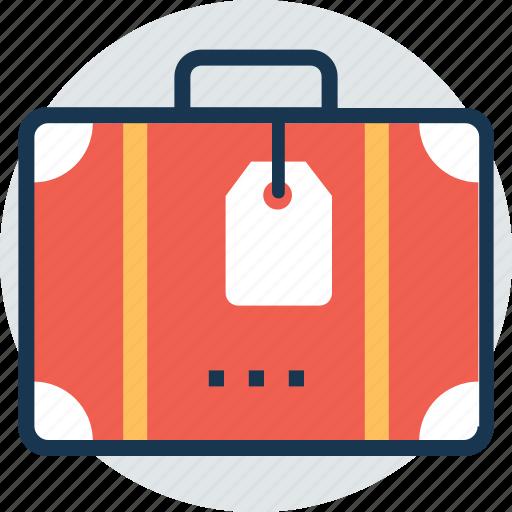 baggage, case label, luggage, suitcase, traveling bag icon