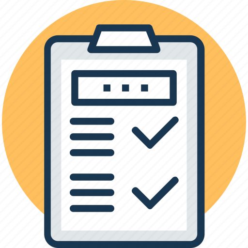 checklist, clipboard, document, index, questionnaire icon