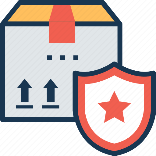 delivery protection, freight protection, package security, secured delivery, shipping protection icon