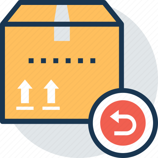 cancelled parcel, delivery denials, refused package, return to sender, unable to forward icon