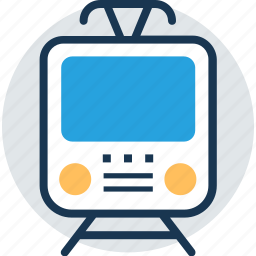railway, train, tram, traveling, voyage icon