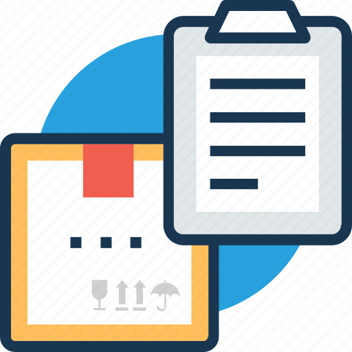 clipboard list, delivery box, delivery invoice, delivery order, delivery receipt icon