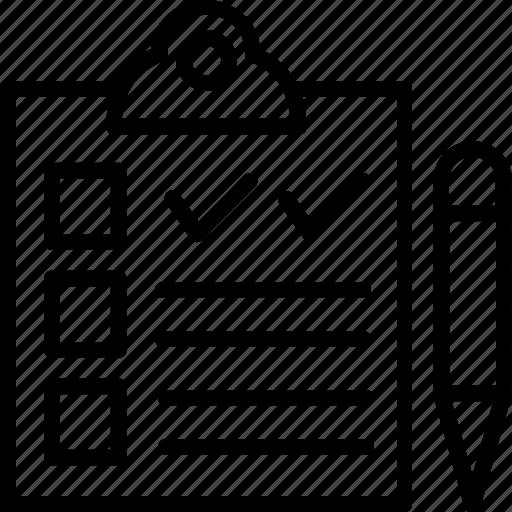 agenda list, checklist, clipboard, notes, task icon