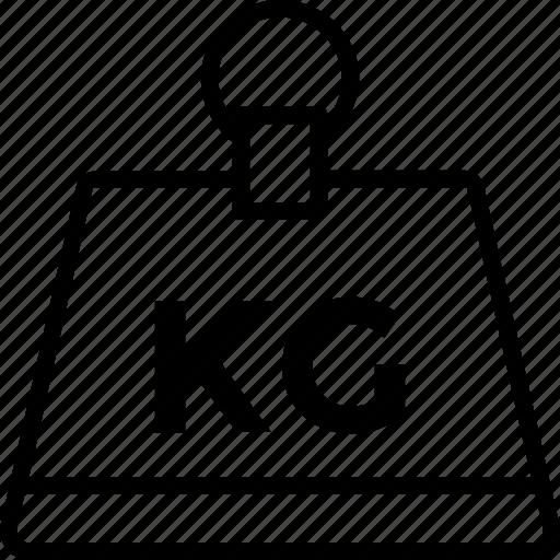 kettlebell, kg weight, kilogram, measurement, weight icon