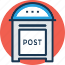 communication, letter box, mailbox, post box, postal service icon
