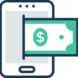 ecommerce, finance, mobile banking, money transaction, online banking icon