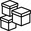 boxes, delivery boxes, delivery packages, packages, parcels icon