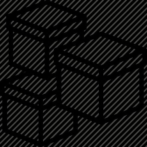 boxes, delivery boxes, delivery packages, packages, parcels icon