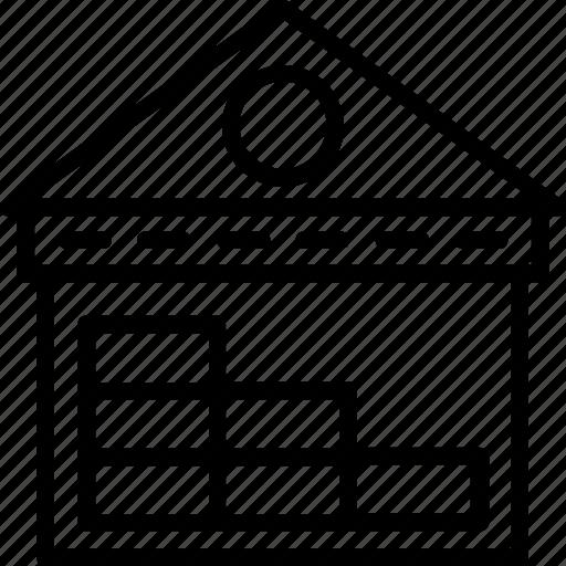 godown, storage unit, storehouse, warehouse storage icon
