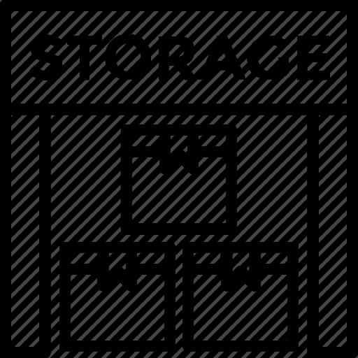 godown, storage, storage unit, storehouse, warehouse icon