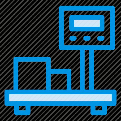 balance, box, machine, measure, scale, weighing icon