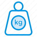 balance, fitness, kilogram, lift, lifting, luggage, weight icon