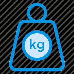 balance, fitness, kilogram, lift, lifting, luggage, weight icon