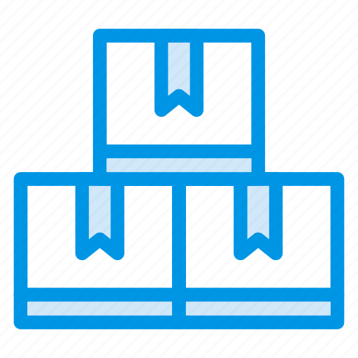 boxes, delivery, deliverybox, items, shipping, transport, trolley icon