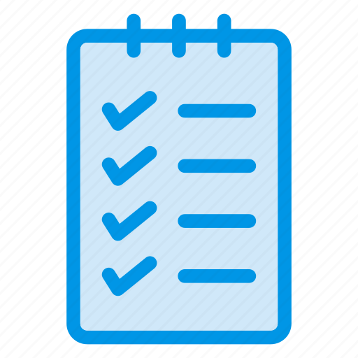 check, checklist, chose, document, list, notepad, notes icon