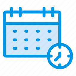 calender, clock, date, month, reminder, schedule, time icon