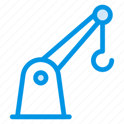 construction, crane, engineer, equipment, lifter, machinery, transport icon