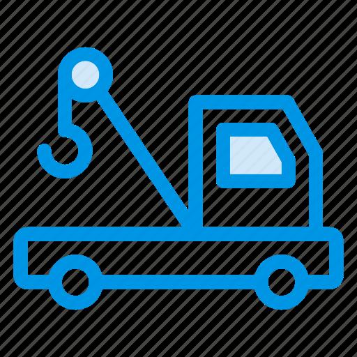 crane, machine, machinery, transport, truck, truckcrane, vehicle icon