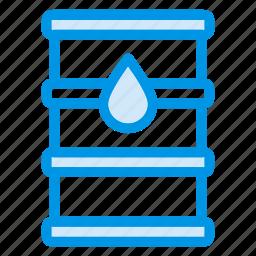 container, cookingoil, diesel, drum, fuel, oil, petrol icon